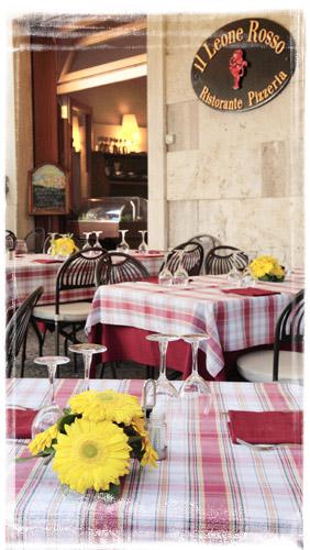 Ristorante pizzeria il leone rosso ristoranti di for L esterno del ristorante sinonimo